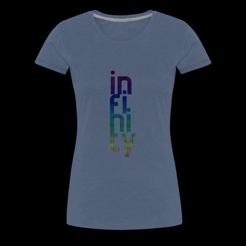 infinity 4 mit kleinen Zeichen im Schriftzug - Frauen Premium T-Shirt