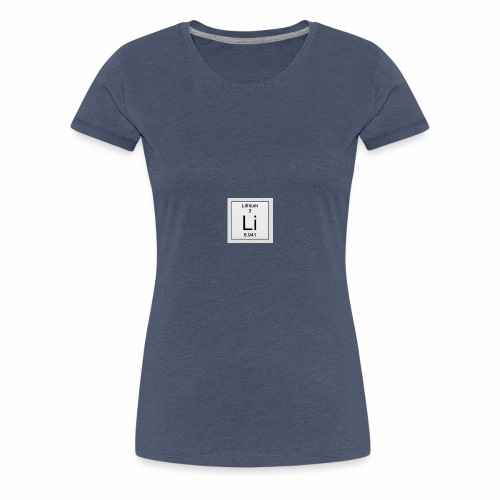 Lithium Periodic Table Image - Frauen Premium T-Shirt