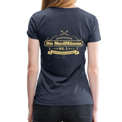 beige logo - Frauen Premium T-Shirt