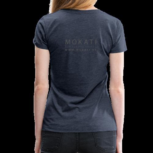MOKATI bewegende bilder - Logo dunkelgrau - Frauen Premium T-Shirt