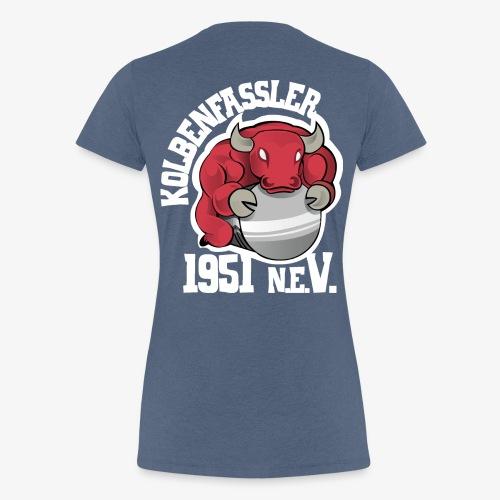KF-Logo farbe transparent auf schwarz - Frauen Premium T-Shirt