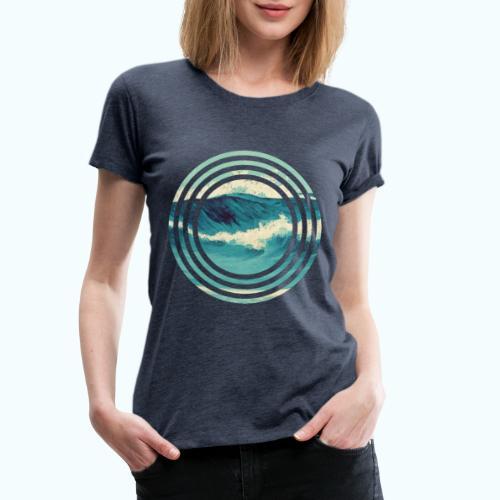 Wave vintage watercolor - Women's Premium T-Shirt