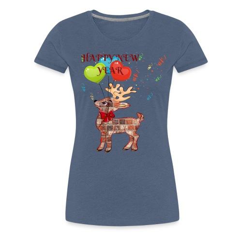 Rudolph Santa HAPPY NEW YEAR 2019 - ZERO - T-shirt Premium Femme