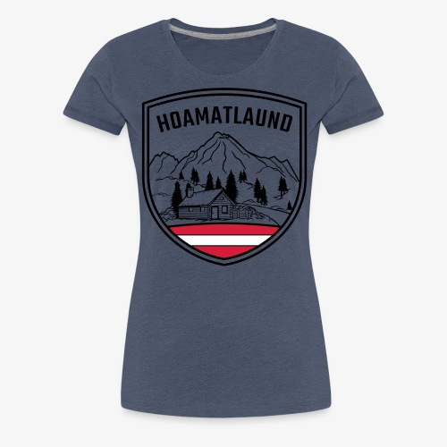 Hoamatlaund logo - Frauen Premium T-Shirt