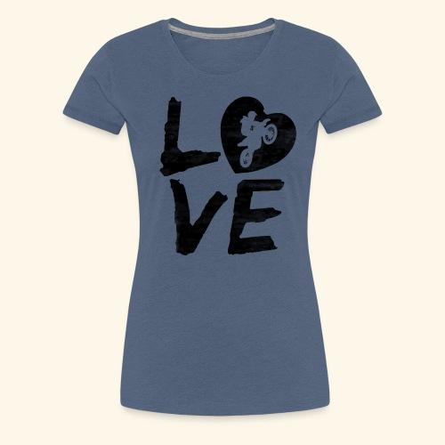 LOVE Motocross - Frauen Premium T-Shirt
