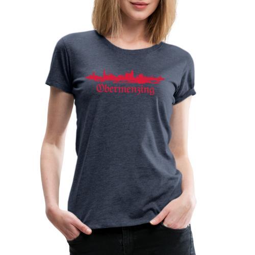 Obermenzing Skyline (Fraktur) - Frauen Premium T-Shirt