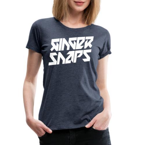 Ginger Snap5 logo (two lines white) - Women's Premium T-Shirt
