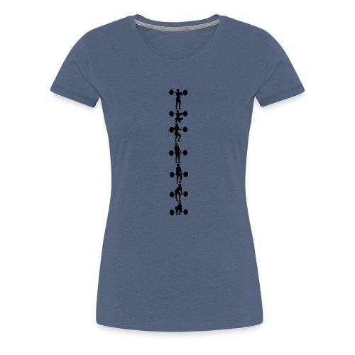 Umsetzen Serie hoch Frau - Frauen Premium T-Shirt
