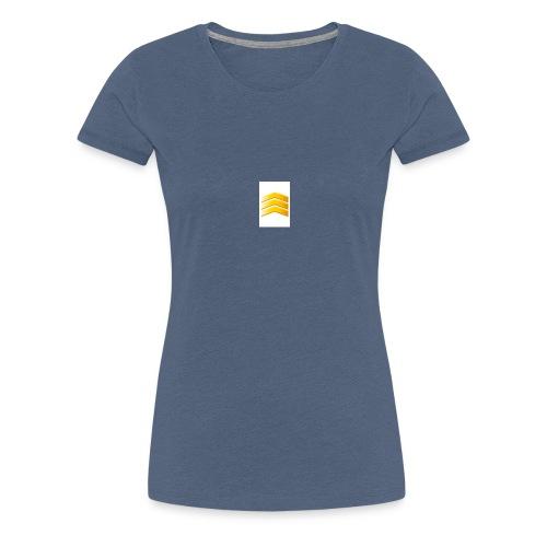 Wit en black - Vrouwen Premium T-shirt