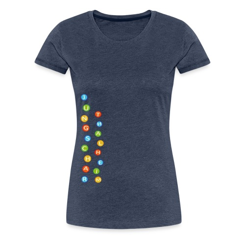 Jungscharlogo Bunt Hochformat - Frauen Premium T-Shirt