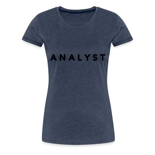 ANALYST LOGO BLACK - Women's Premium T-Shirt