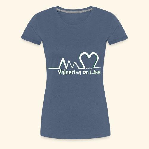 Valnerina On line APS logo bianco con ombra - Maglietta Premium da donna
