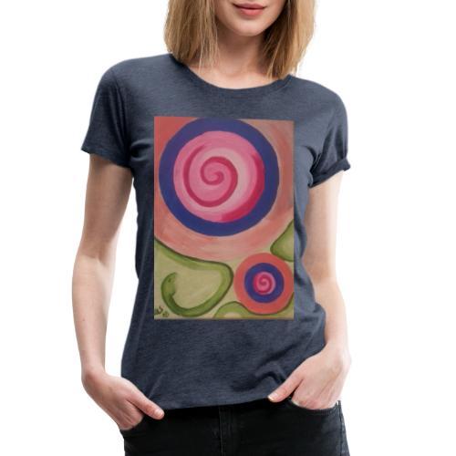 spirale con serpente - Maglietta Premium da donna