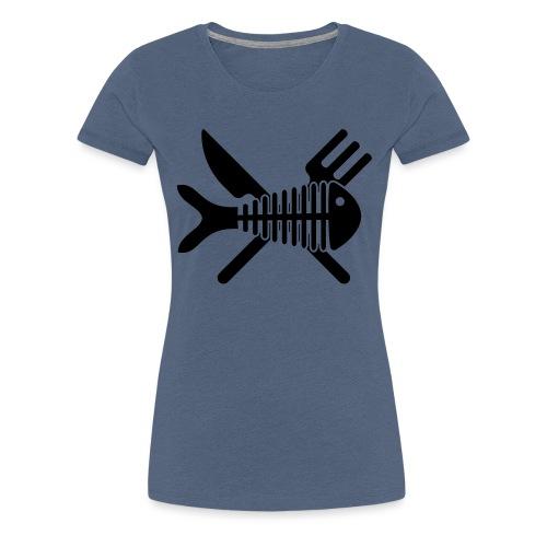 Poisson couvert - T-shirt Premium Femme