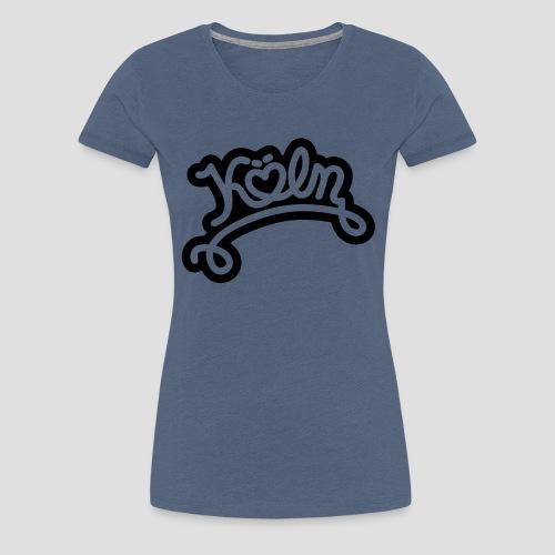 Köln mit Herz - Frauen Premium T-Shirt