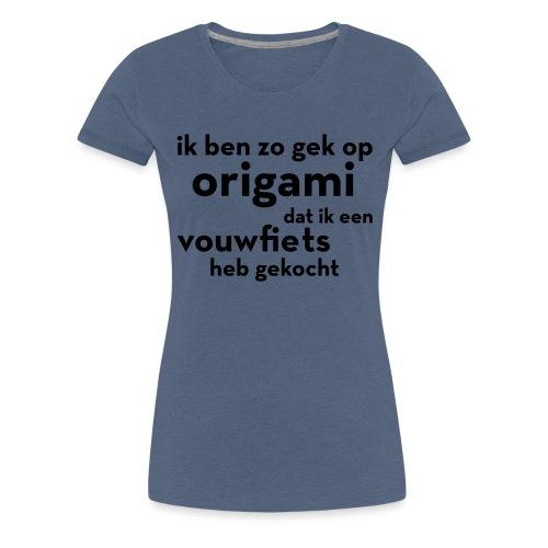 Origami - Vouwfiets - Vrouwen Premium T-shirt