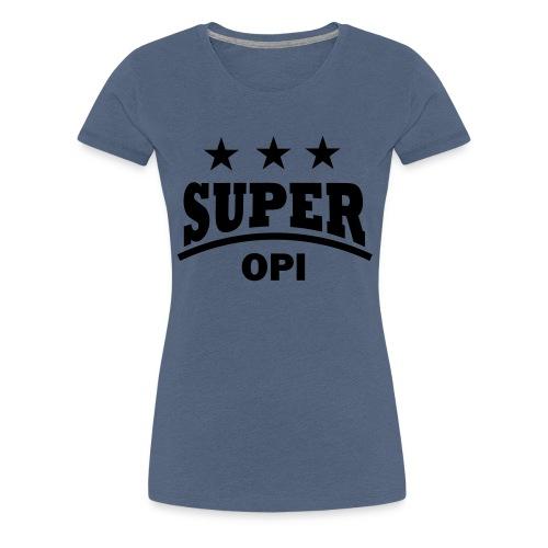 cool super opi raster - Vrouwen Premium T-shirt
