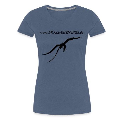 drache und schrift - Frauen Premium T-Shirt