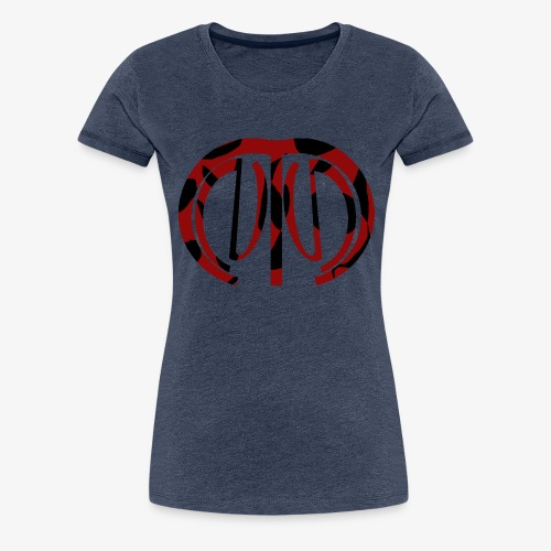 logo mnng effect 1 - Vrouwen Premium T-shirt