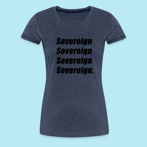 Sovereign Black Repeat - Women's Premium T-Shirt