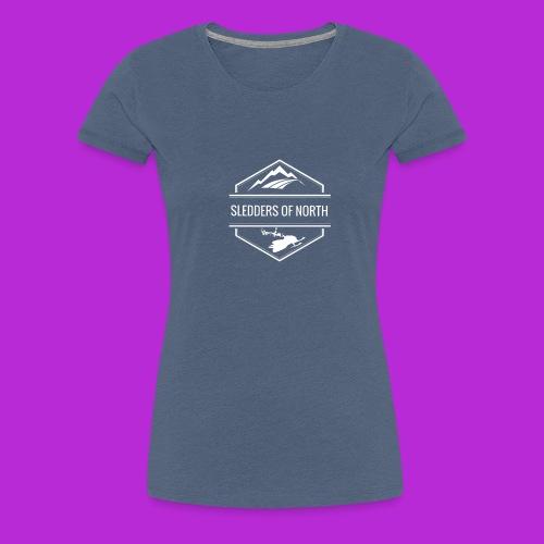 Hoodie White Logo - Women's Premium T-Shirt