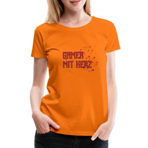 Gamer with heart - Women's Premium T-Shirt