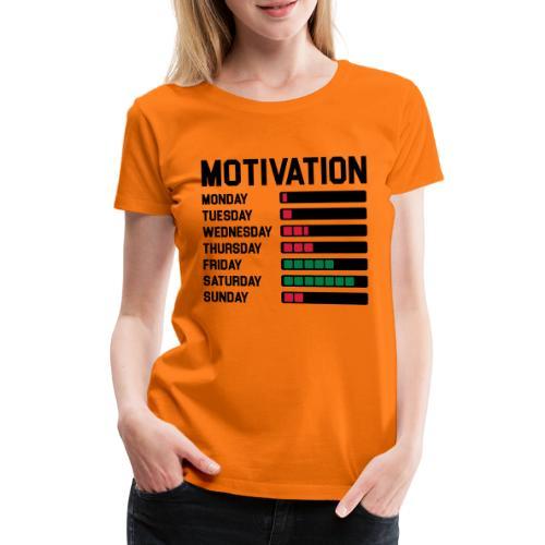 Wochen Motivation - Frauen Premium T-Shirt