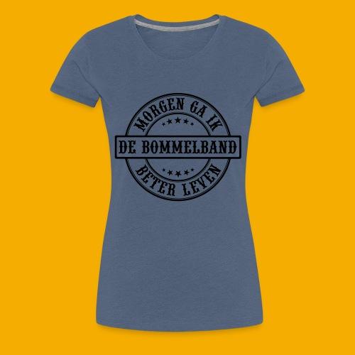 bb logo rond 2 - Vrouwen Premium T-shirt