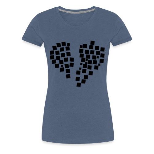 heartpixel - Frauen Premium T-Shirt