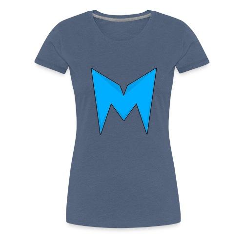 Tee-shirt Madcrow gris & logo bleu sur le torse - T-shirt Premium Femme