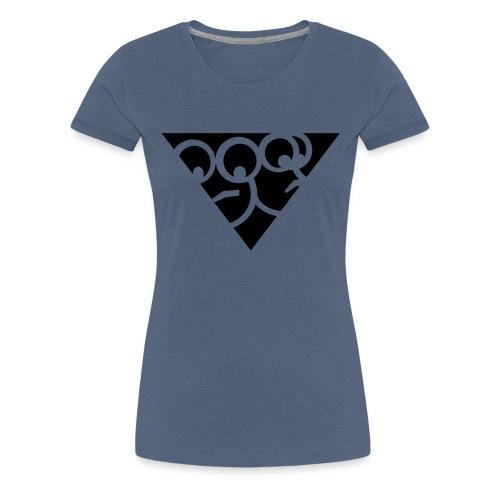 Aussenseiter-Shirt (Schwarz-Gelb) - Frauen Premium T-Shirt