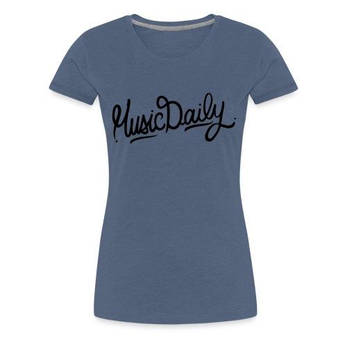 MusicDaily Logo - Vrouwen Premium T-shirt