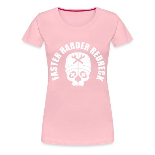 Faster Harder Redneck - Premium-T-shirt dam
