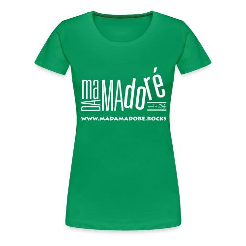 T-Shirt - Donna - Logo Bianco + Sito - Maglietta Premium da donna