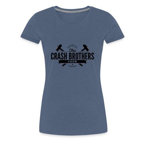 LOGO_SVART_CREW - Premium-T-shirt dam