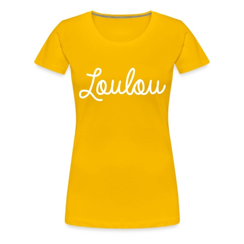 Logo-Wit - Vrouwen Premium T-shirt