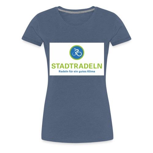 Stadtradeln quadratisch CMYK 300dpi jpg - Frauen Premium T-Shirt