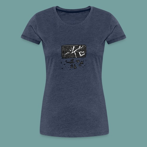 wrecked phone - Frauen Premium T-Shirt