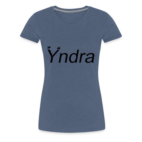 Yndra-Logo´3´-Schwarz - Frauen Premium T-Shirt
