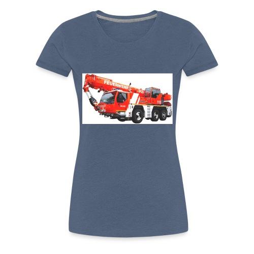 Feuerwehrkran Leipzig - Frauen Premium T-Shirt