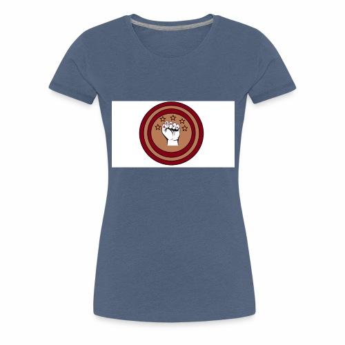 Bouclier et poing gamer - T-shirt Premium Femme