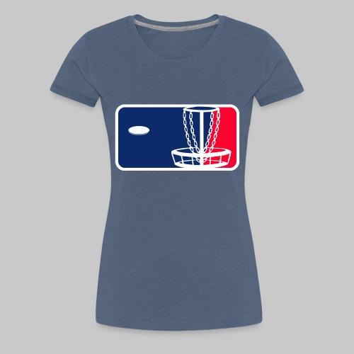 Major League Frisbeegolf - Naisten premium t-paita