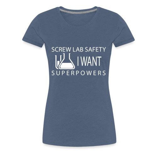 screw lab safety white - Women's Premium T-Shirt