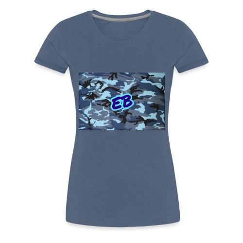 Ellibradyoffical blue camo - Women's Premium T-Shirt