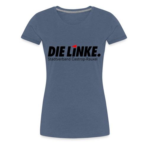 DIE LINKE SV Castrop Rauxel Logo schwarz - Frauen Premium T-Shirt