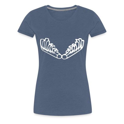 Kiehiset_logo_valk_vetoketjuhuppari - Naisten premium t-paita