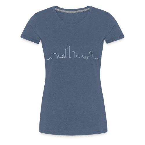 skyline leipzig weiß png - Frauen Premium T-Shirt