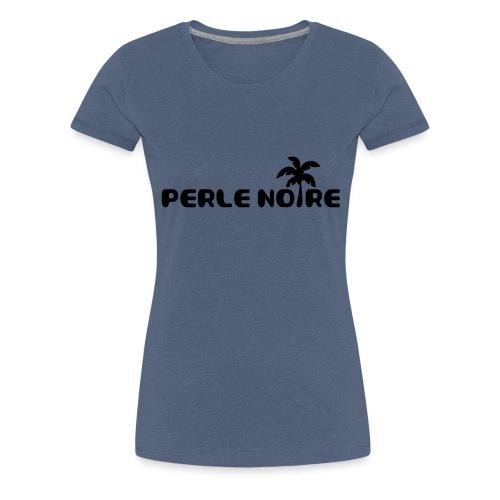 Perle-Noire-Palmier-BXL-ai - T-shirt Premium Femme