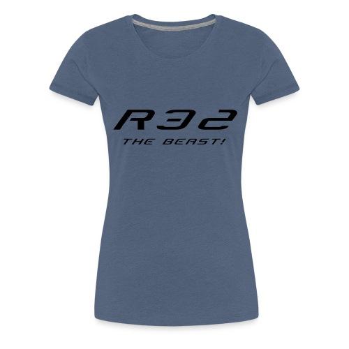 Golf R32 - The Beast - Frauen Premium T-Shirt