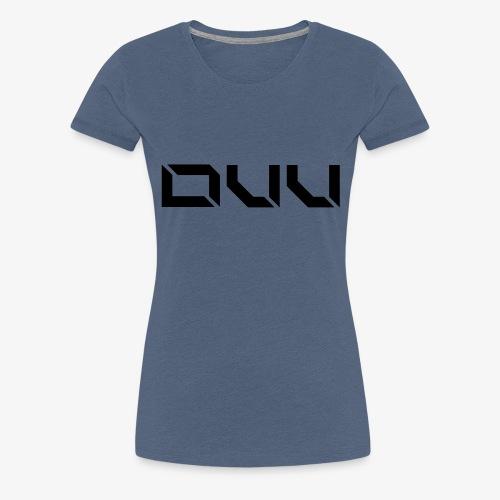 DUU Logo Vektor Schwarz - Frauen Premium T-Shirt